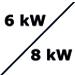 8 oder 6 kW