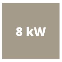 Die beiden Öfen haben einen Leistungsbereich von 4,0-8,2 kW