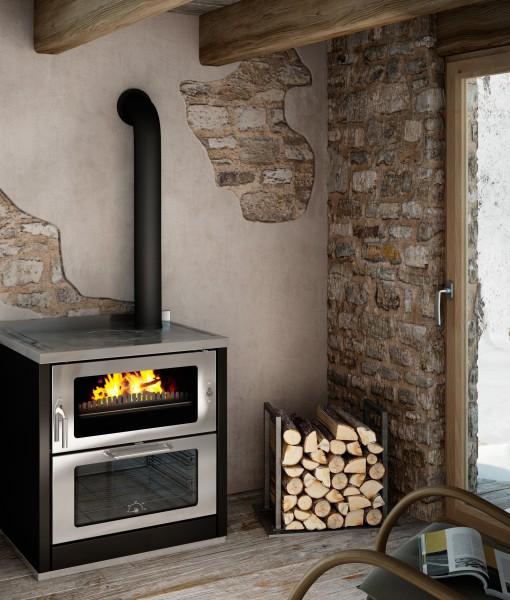 Premium Holzherd mit Breitbrand-Technik