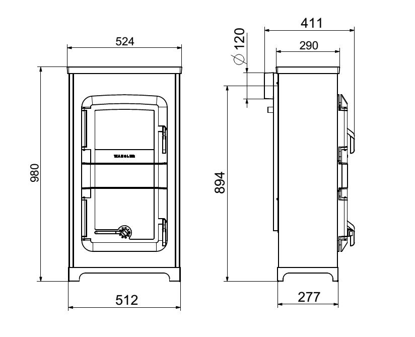 wamsler werkstattofen raumheizer rh 8f automatik holzofen. Black Bedroom Furniture Sets. Home Design Ideas