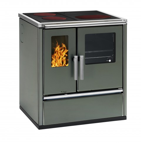 Dauerbrandherd W1-75 in anthrazit-metallic