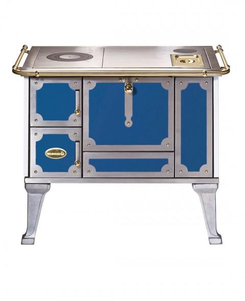 Dauerbrandherd mit Emailierung in blau